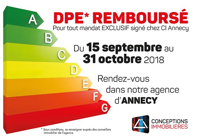 Conceptions Immobilières Reconduit Lu0027opération De Remboursement De Votre DPE*  Jusquu0027au 30 Novembre 2018 !